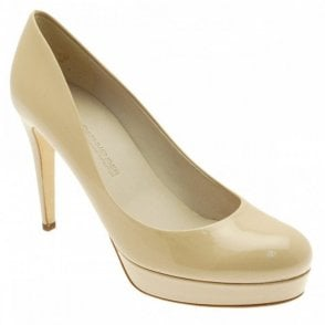 Patent Platform High Heel Court Shoe