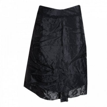 Patterned Drop Lining Knee Length Skirt