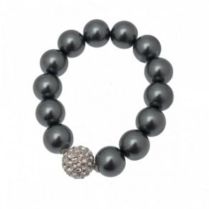Pearl And Diamante Detail Bracelet