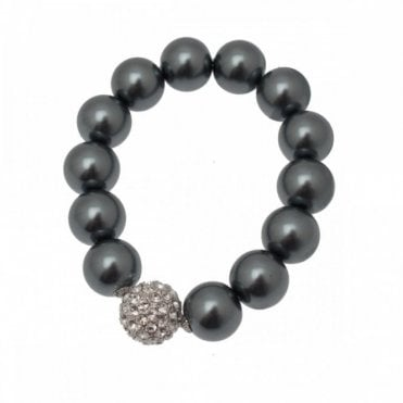 Nour London Pearl And Diamante Detail Bracelet