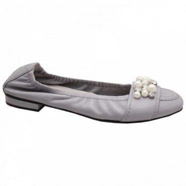 Pearl Band Diamante Ballet Pump
