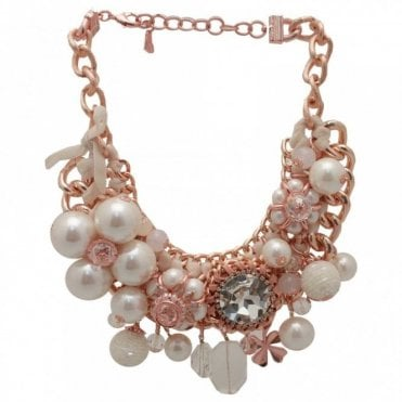 Pearl/crystal Effect Statement Necklace