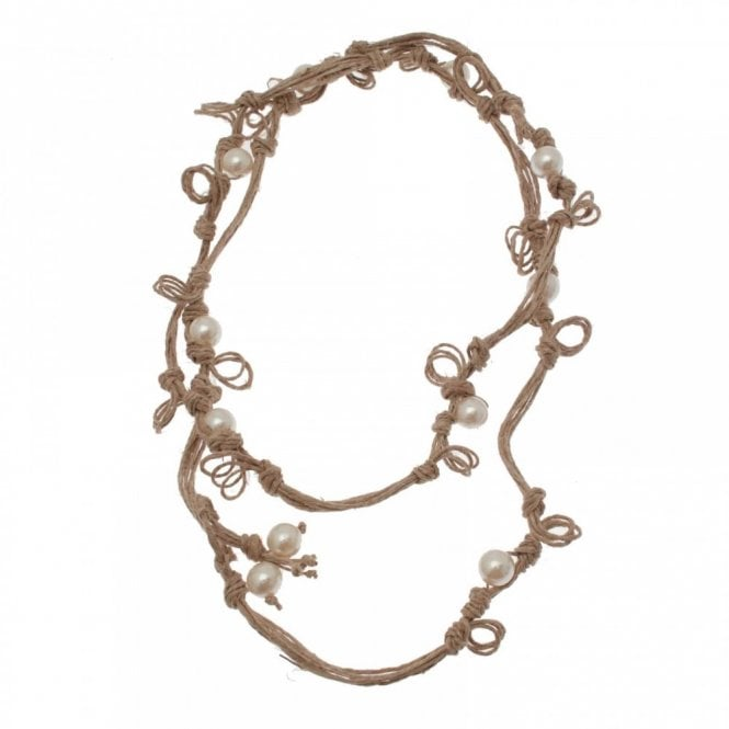 Badoo Pearl Detail Knotted Rope Necklace