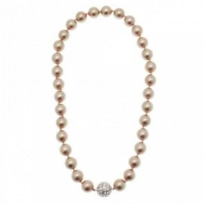 Pearl Diamante Ball Feature Necklace