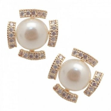 Pearl Effect Stud Earrings