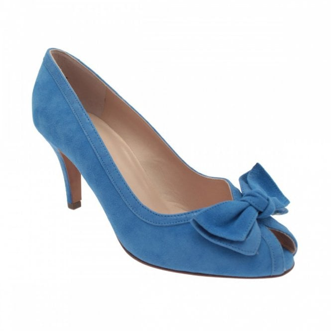 Peter Kaiser Peep Toe Bow Detail Heeled Court Shoe