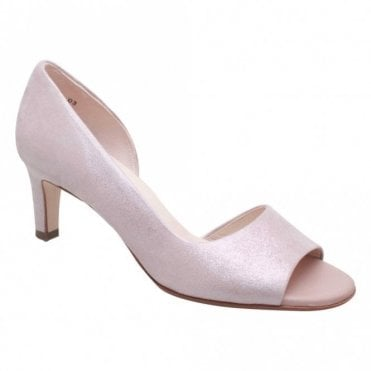 Peter Kaiser Peep Toe Side Out High Heel Court Shoes