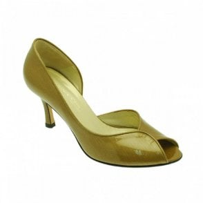 Peep Toe Side Out Mustard Patent