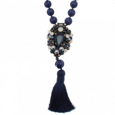 Pendant & Tassle Statement Necklace