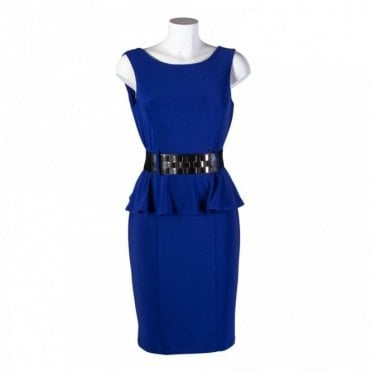 Peplum Dress With Belt