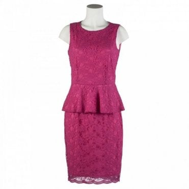 Peplum Lace Sleeveless Dress