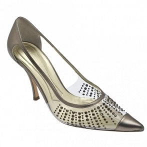 Pewter Perpex Court Diamonte