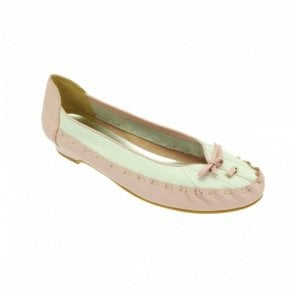 Zaccho Pink And White Moccasin
