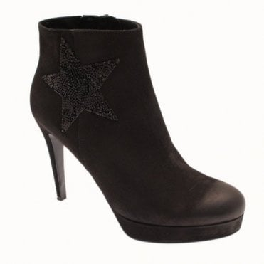 Platform Ankle Boot With Star