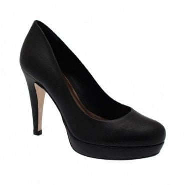 Sachelle Coutute Platform High Heel Leather Court Shoe