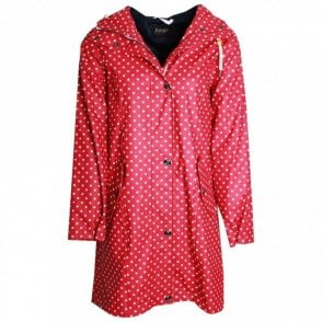 Polka Dot Long Raincoat