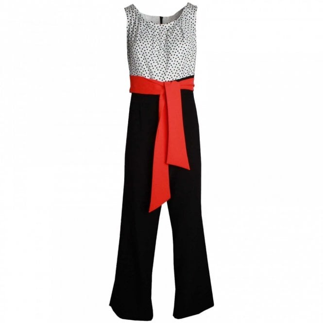 Badoo Polka Dot Top Jumpsuit With Wrap Belt