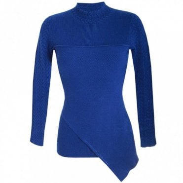 Passioni Polo Neck Fine Knit Tunic