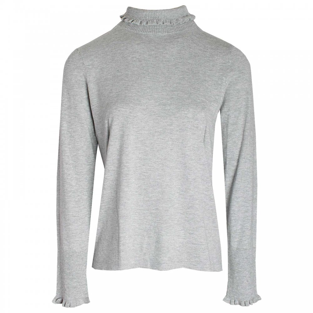 53aace6d8d2c0d Polo Neck Long Sleeve Knitted Jumper By Oui At Walk In Style