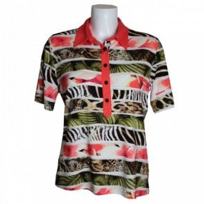 Frank Walder Polo Shirt Jungle Print