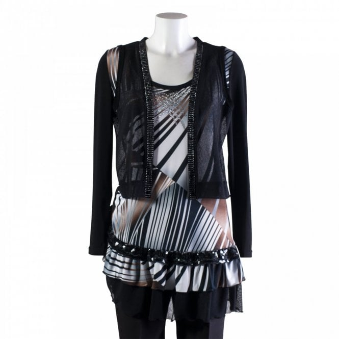 Joseph Ribkoff Print Tunic With Long Sleeve Jacket