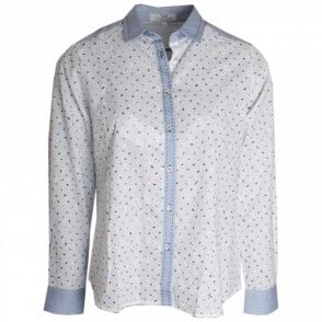Printed Broderie Anglaise Shirt