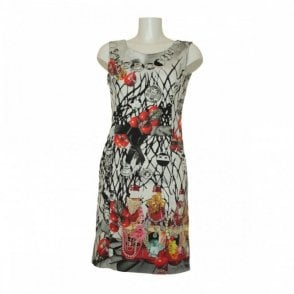 Printed Sleeveless Crossver Back Dress