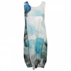 Crea Concept Printed Sleeveless Dress With Slip