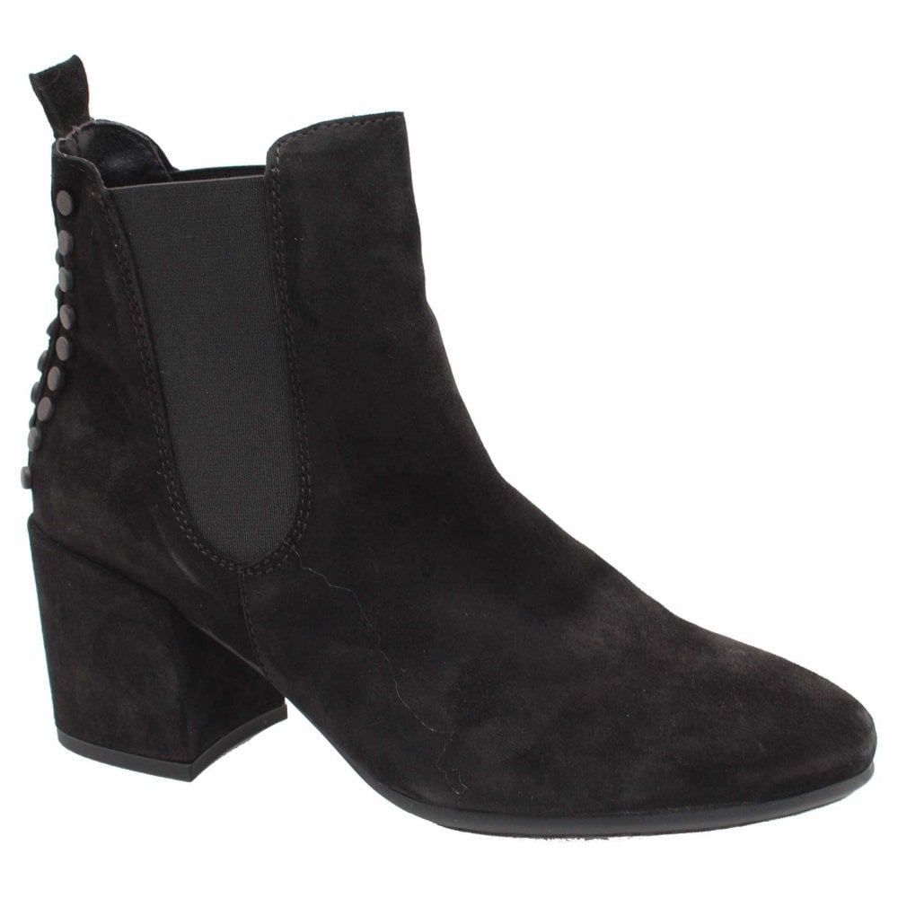 14550da20ea Pull On Black Suede Chelsea Ankle Boots