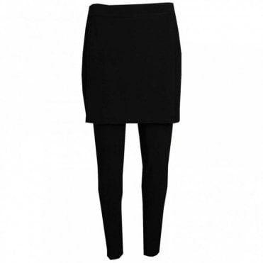 Pull On Leggings With Attached Skirt