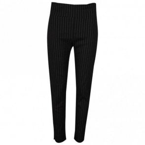 Crea Concept Pull On Pin Stripe Stretch Trousers
