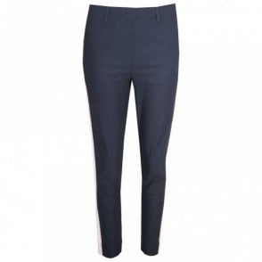 Pull On Slim Fit Sports Stripe Trousers
