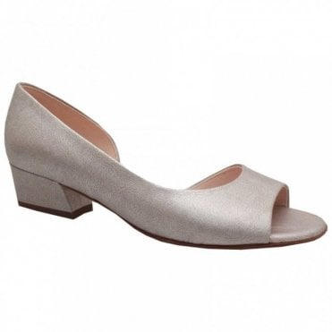 Peter Kaiser Pura Side Out Low Block Heel Court Shoe