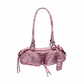 Purple Medium Shoulder Bag With Zip