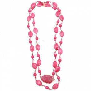 Quartzite Agate Long Necklace
