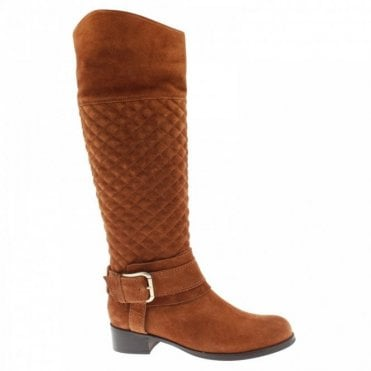 Quilted Buckle Detail Long Boot