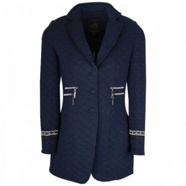 L'argentina Quilted Jersey Long Sleeve Jacket