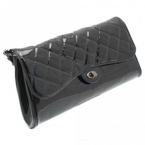 Quilted Leather Clutch / Shoulder Bag