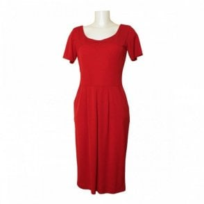 R/neck Plain Dress