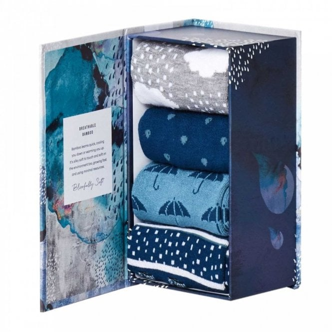 Thought Rainy Days Bamboo Sock Gift Box