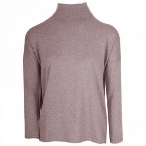 Thought Rear Cut Away Rollneck Knitted Jumper