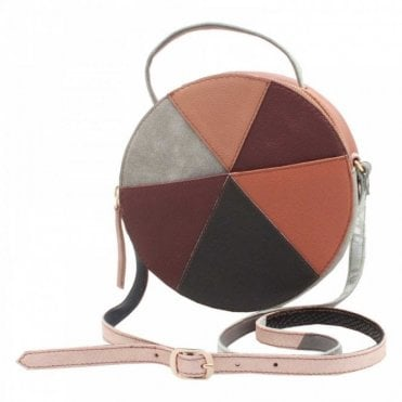 Recycled Leather Round Handbag