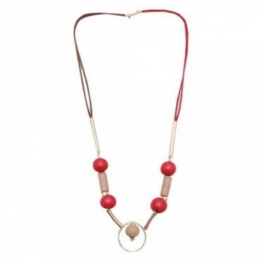 Red Nomad Long Necklace