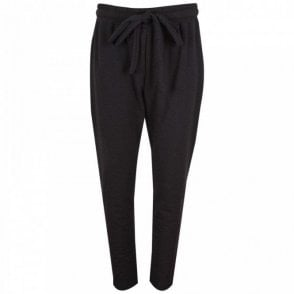Relaxed Fit Sport Luxe Black Trousers