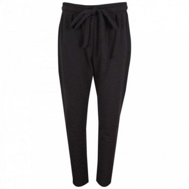 Crea Concept Relaxed Fit Sport Luxe Black Trousers