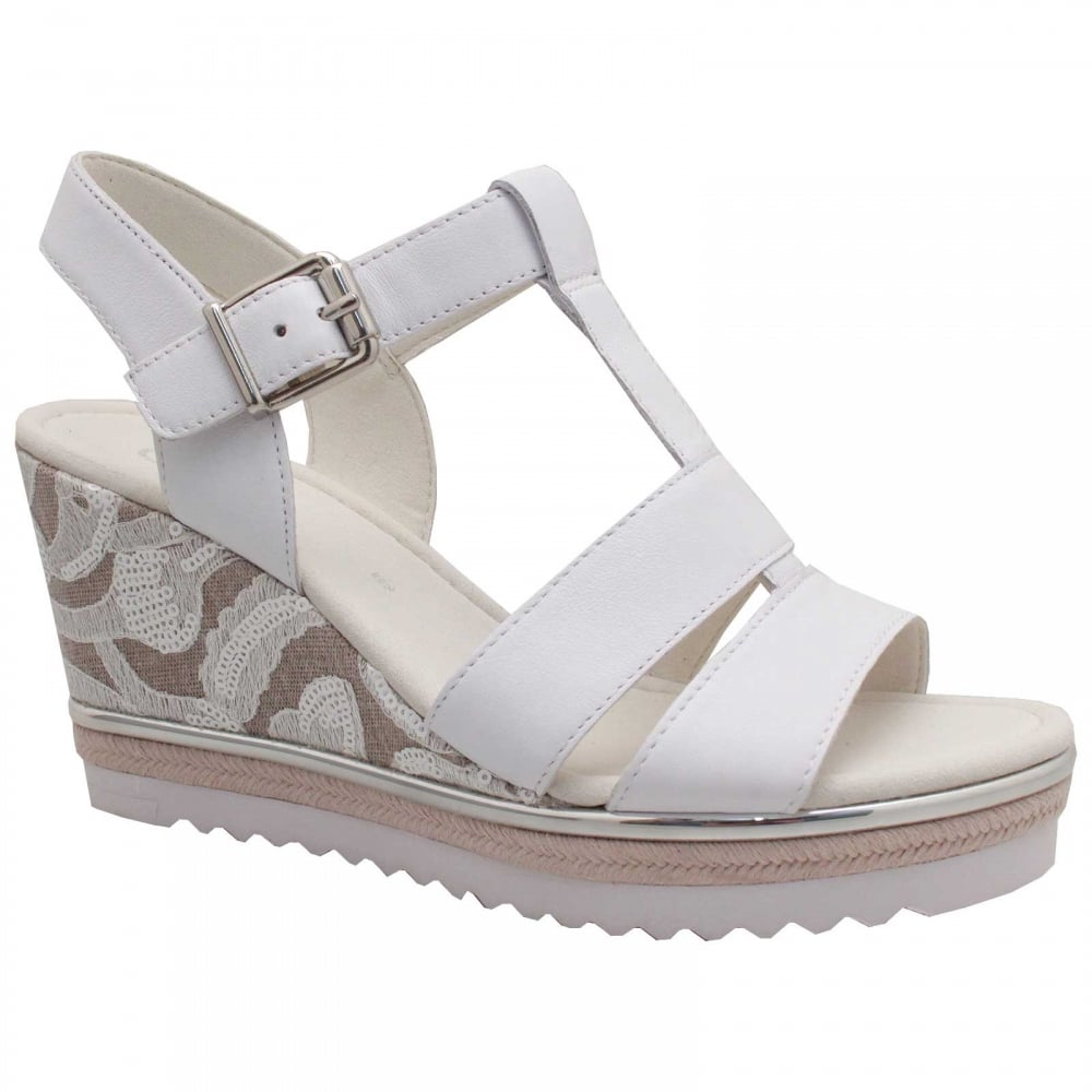 d72bfddb8a6 Rena T Bar Wedge Sandal By Gabor At Walk In Style