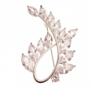 Rhodium Women's Loop Brooch
