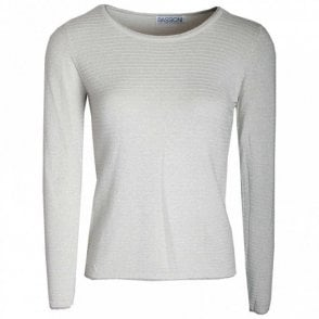 Ribbed Round Neck Long Sleeves Jumper