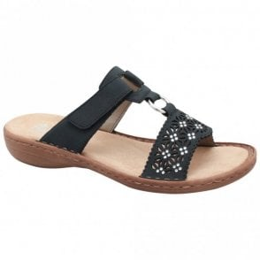 Rieker Slip On Sandal With Adjustable Strap