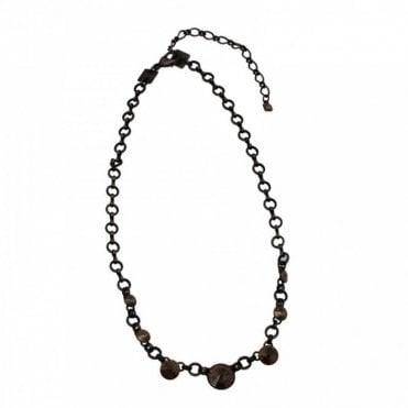 Rivoli Crystal Metal Chain Necklace